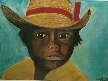 Craie pastel Enfant du Mexique photo d'un livre .