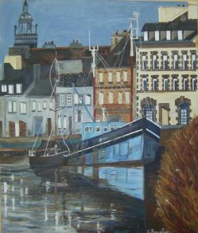 1M20/1M10  PORT LAUNAY (vue d'une photo d'un livre du Finistère)